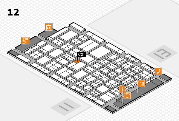 ProWein 2017 Hallenplan (Halle 12): Stand C21