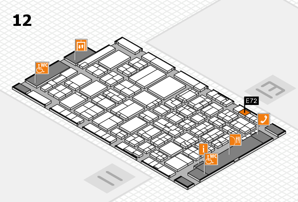 ProWein 2017 Hallenplan (Halle 12): Stand E72