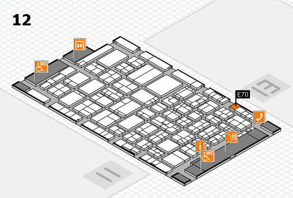 ProWein 2017 hall map (Hall 12): stand E70