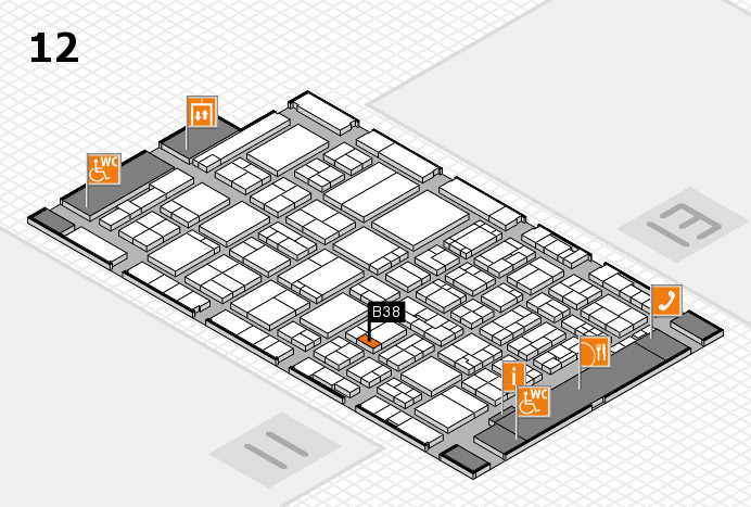 ProWein 2017 hall map (Hall 12): stand B38