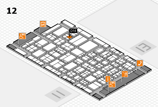 ProWein 2017 hall map (Hall 12): stand D14