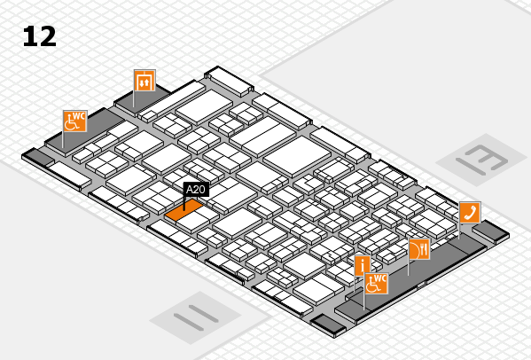ProWein 2017 hall map (Hall 12): stand A20