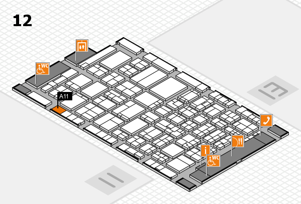 ProWein 2017 hall map (Hall 12): stand A11