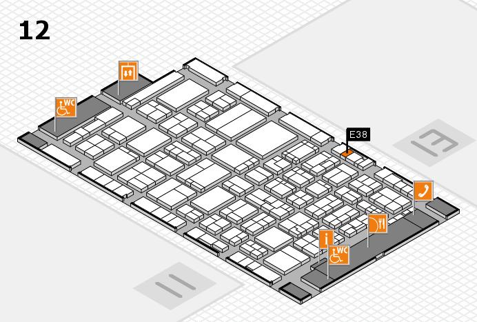 ProWein 2017 hall map (Hall 12): stand E38