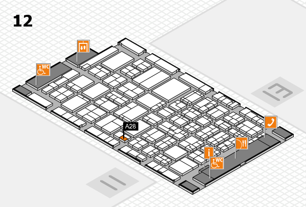 ProWein 2017 hall map (Hall 12): stand A28