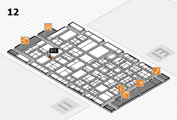 ProWein 2017 Hallenplan (Halle 12): Stand B13