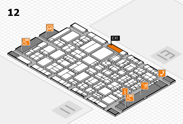ProWein 2017 hall map (Hall 12): stand E30