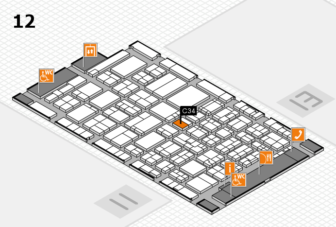 ProWein 2017 hall map (Hall 12): stand C34