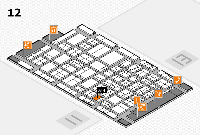 ProWein 2017 hall map (Hall 12): stand A44