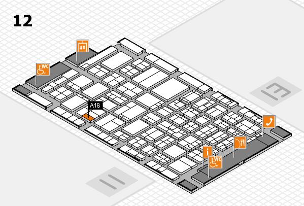 ProWein 2017 Hallenplan (Halle 12): Stand A18