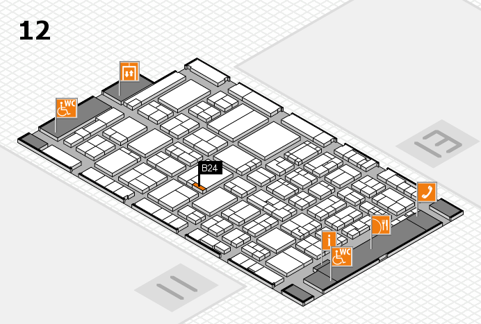 ProWein 2017 hall map (Hall 12): stand B24