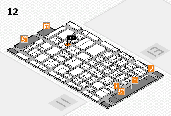 ProWein 2017 hall map (Hall 12): stand D13