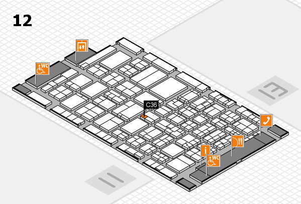 ProWein 2017 hall map (Hall 12): stand C36