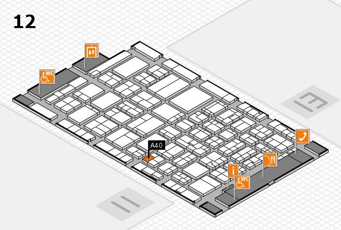 ProWein 2017 Hallenplan (Halle 12): Stand A40
