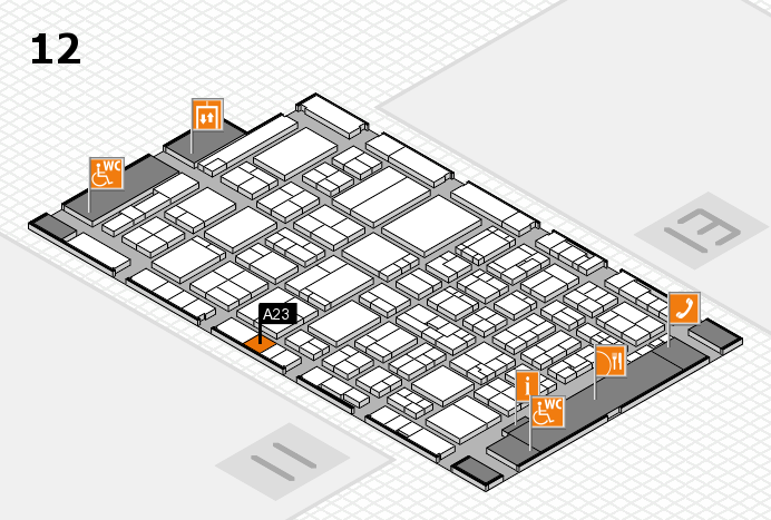 ProWein 2017 hall map (Hall 12): stand A23