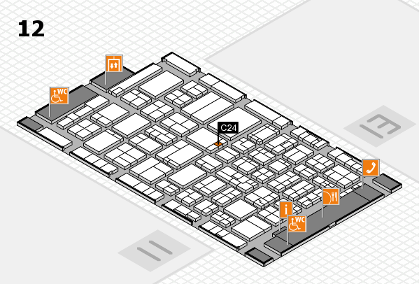 ProWein 2017 hall map (Hall 12): stand C24