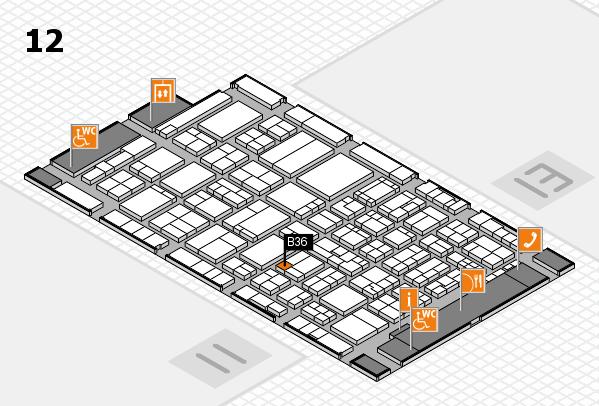 ProWein 2017 hall map (Hall 12): stand B36
