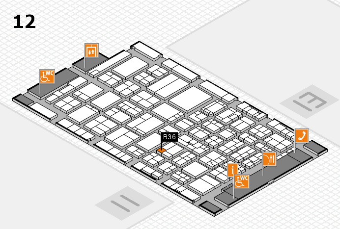 ProWein 2017 hall map (Hall 12): stand B36