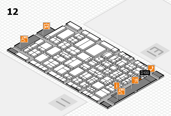 ProWein 2017 hall map (Hall 12): stand D100