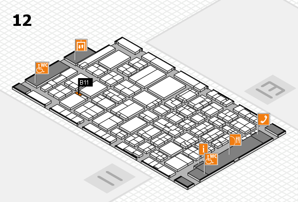 ProWein 2017 hall map (Hall 12): stand B11