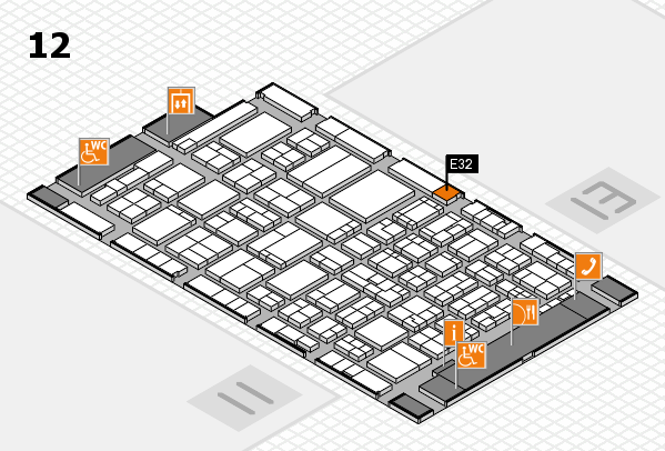 ProWein 2017 hall map (Hall 12): stand E32