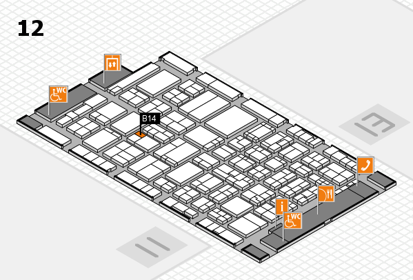 ProWein 2017 hall map (Hall 12): stand B14