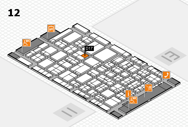 ProWein 2017 hall map (Hall 12): stand D17