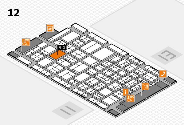 ProWein 2017 Hallenplan (Halle 12): Stand B10