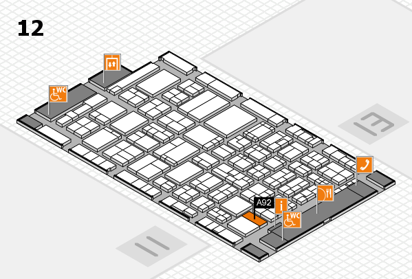 ProWein 2017 hall map (Hall 12): stand A92