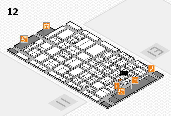 ProWein 2017 hall map (Hall 12): stand C80