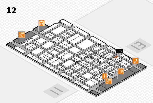 ProWein 2017 hall map (Hall 12): stand E69