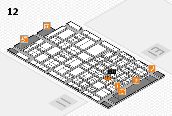 ProWein 2017 hall map (Hall 12): stand C71