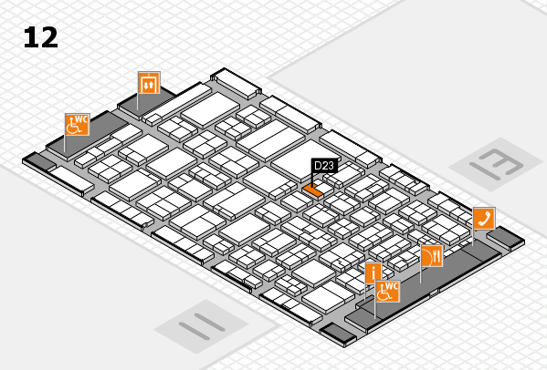 ProWein 2017 hall map (Hall 12): stand D23