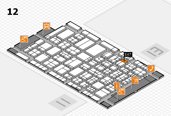 ProWein 2017 hall map (Hall 12): stand E47