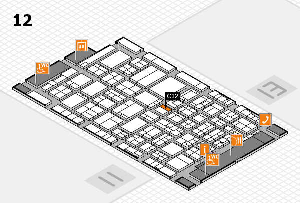 ProWein 2017 hall map (Hall 12): stand C32