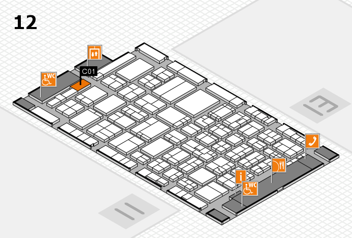 ProWein 2017 hall map (Hall 12): stand C01