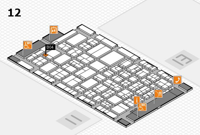 ProWein 2017 hall map (Hall 12): stand B04