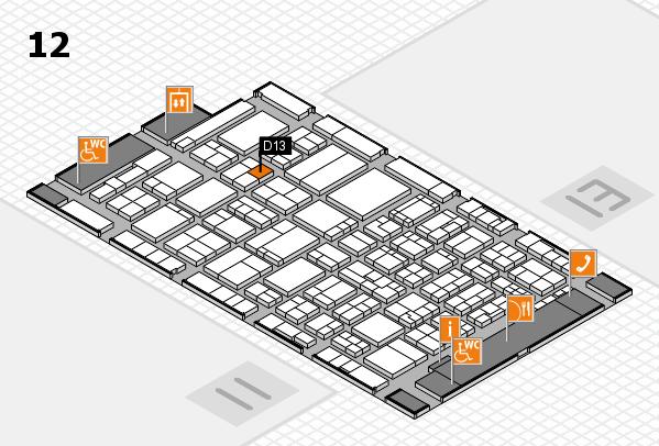 ProWein 2017 Hallenplan (Halle 12): Stand D13