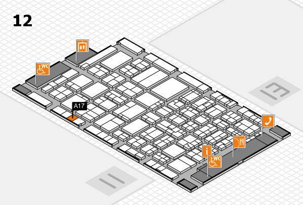 ProWein 2017 Hallenplan (Halle 12): Stand A17