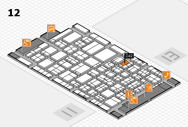 ProWein 2017 hall map (Hall 12): stand D42