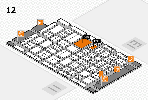 ProWein 2017 hall map (Hall 12): stand D30