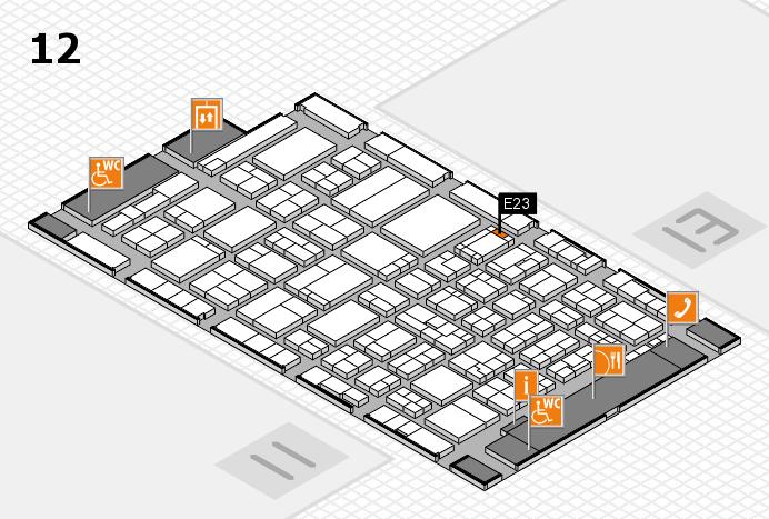 ProWein 2017 hall map (Hall 12): stand E23