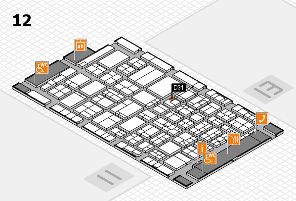 ProWein 2017 hall map (Hall 12): stand D31