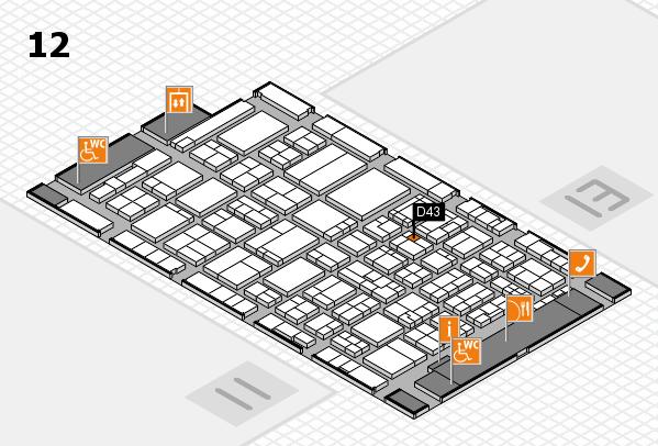 ProWein 2017 Hallenplan (Halle 12): Stand D43