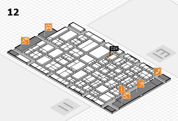 ProWein 2017 Hallenplan (Halle 12): Stand D24