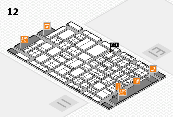 ProWein 2017 hall map (Hall 12): stand E21