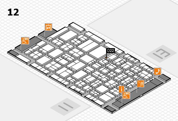 ProWein 2017 Hallenplan (Halle 12): Stand D22