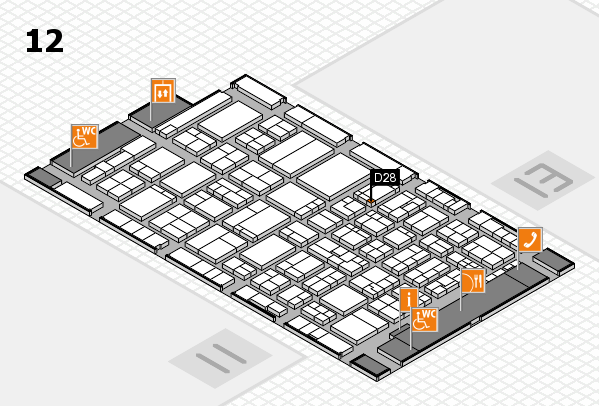 ProWein 2017 hall map (Hall 12): stand D28