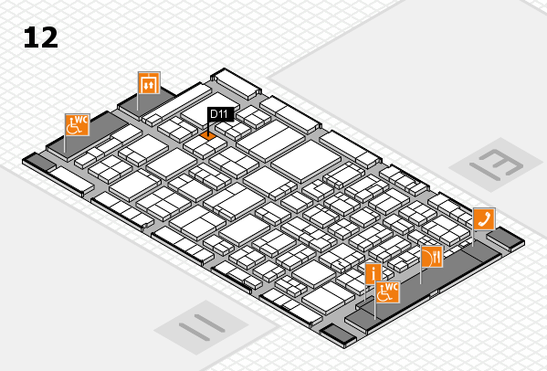 ProWein 2017 hall map (Hall 12): stand D11