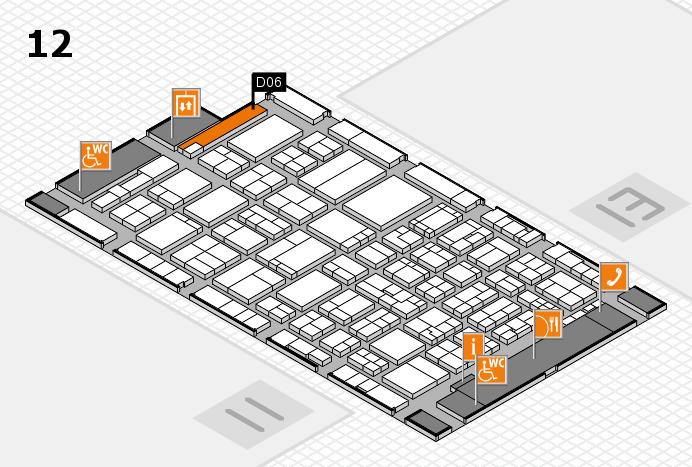 ProWein 2017 Hallenplan (Halle 12): Stand D06